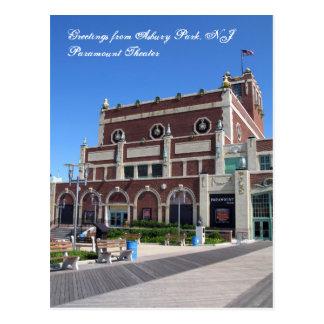 Greetings from Asbury Park NJ - Paramount Theater Postcard