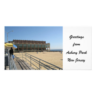 Greetings from Asbury Park NJ Personalized Photo Card