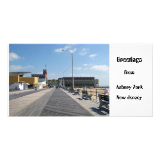 Greetings from Asbury Park, NJ Customized Photo Card