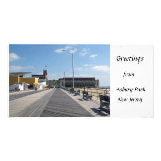 Greetings from Asbury Park, NJ Picture Card