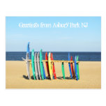 Greetings from Asbury Park NJ - Surfboards Post Card