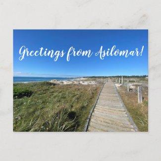 Greetings from Asilomar! Postcard