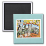 Greetings From Atlanta 2 Inch Square Magnet