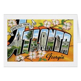 Greetings From Atlanta Georgia Greeting Card