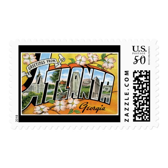 Greetings from Atlanta Georgia Postage
