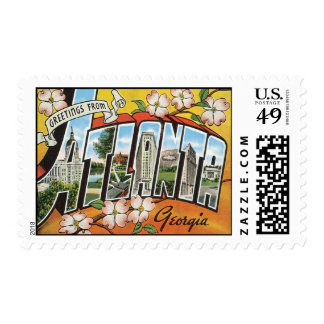 Greetings From Atlanta Georgia Postage Stamp