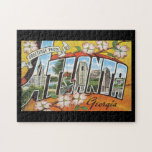 "Greetings from Atlanta Georgia_Vintage Travel Jigsaw Puzzle<br><div class=""desc"">This product features Greetings from Atlanta Georgia Vintage Travel Poster Artwork.