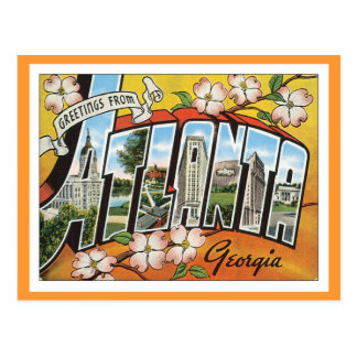 Greetings From Atlanta Postcard