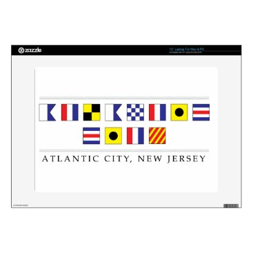 "Beach Themed Greetings from Atlantic City 15"" Laptop Skins"