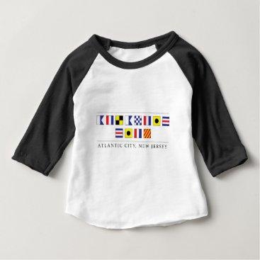 Beach Themed Greetings from Atlantic City Baby T-Shirt