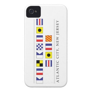 Beach Themed Greetings from Atlantic City Case-Mate iPhone 4 Case