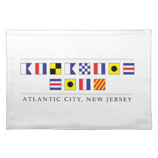 Greetings from Atlantic City Cloth Placemat
