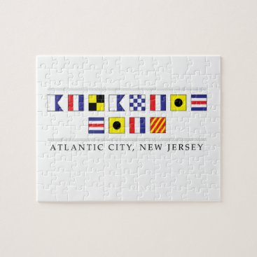 Beach Themed Greetings from Atlantic City Jigsaw Puzzle