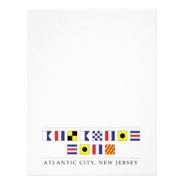 Beach Themed Greetings from Atlantic City Letterhead