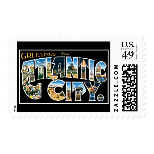 Greetings from Atlantic City New Jersey Postage