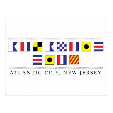 Beach Themed Greetings from Atlantic City Postcard
