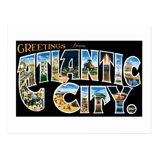 Greetings from Atlantic City! Postcard