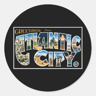 Greetings from Atlantic City Sticker