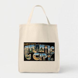 Greetings from Atlantic City Tote Bags