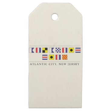 Beach Themed Greetings from Atlantic City Wooden Gift Tags