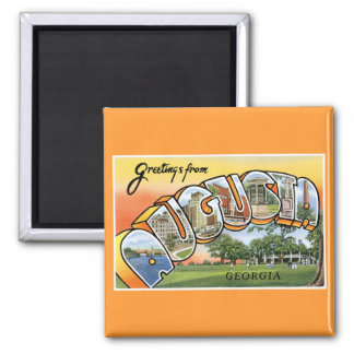 Greetings from Augusta, GA! 2 Inch Square Magnet
