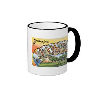 Greetings from Augusta, GA! Ringer Coffee Mug