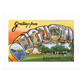 Greetings from Augusta, GA! Postcard
