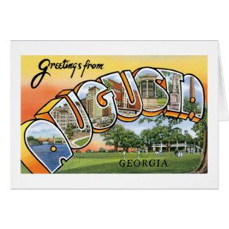 Greetings from Augusta, Georgia Greeting Card