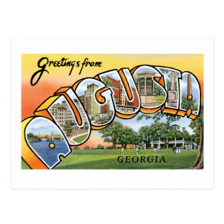 Greetings from Augusta, Georgia Postcard