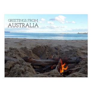 Greetings from australia postcards zazzle greetings from australia beach bonfire postcard m4hsunfo