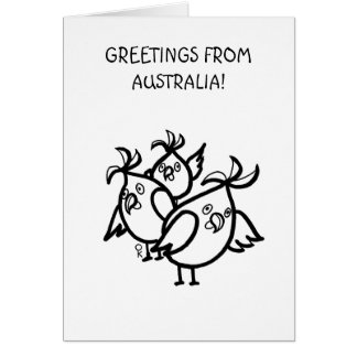 GREETINGS FROM AUSTRALIA Cockatoos Card
