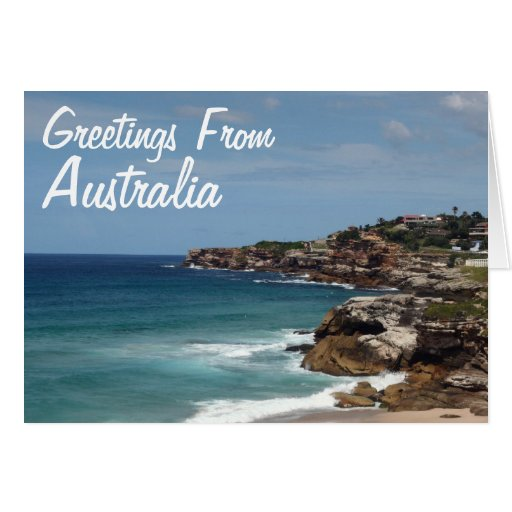 Greetings From Australia Greeting Card
