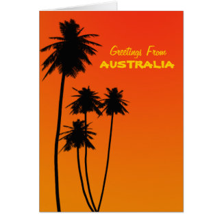 Greetings From Australia Note Card