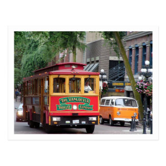 Greetings From B.C Canada/Vancouver Trolley Postcard