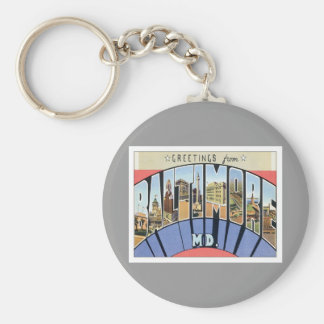 Greetings From Baltimore Maryland Keychains