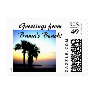 Greetings from Bama's Beach stamp