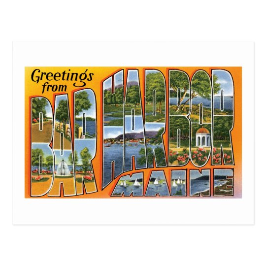 Greetings from Bar Harbor, Maine Postcard