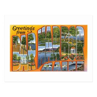 Greetings from Bar Harbor, Maine! Postcard