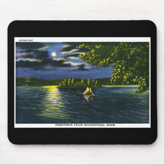 Greetings from Barnesville, Minnesota - Moonlight Mouse Pad