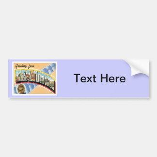 Greetings From Beantown Boston Car Bumper Sticker