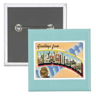 Greetings From Beantown Boston Pinback Buttons