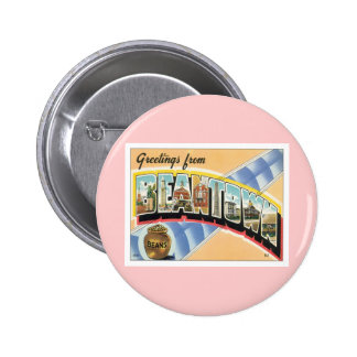 Greetings From Beantown Boston Pinback Button