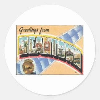 Greetings From Beantown Boston Sticker
