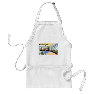 Greetings from Beantown! Vintage Post Card Adult Apron