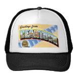 Greetings from Beantown! Vintage Post Card Trucker Hat
