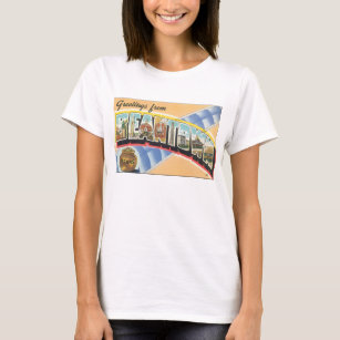Greetings from Beantown_Vintage Travel Poster T-Shirt