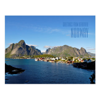Greetings from beautiful Norway photo card