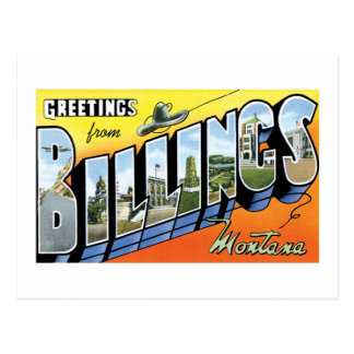 Greetings from Billings, Montana! Post Cards
