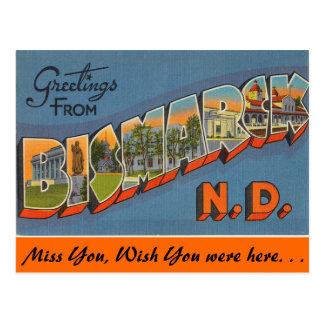 Greetings from Bismark Postcard