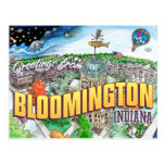 Greetings from Bloomington Indiana (postcard) Postcard